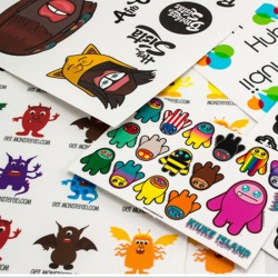 custom cut sticker sheet in China