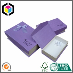 OEM Factory Printing Ribbon Folding Cardboard Gift Box
