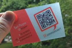 frosted PVC business card with QR code