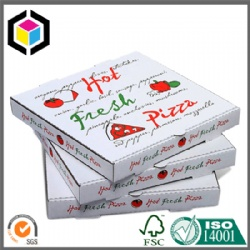 White Color Print Corrugated Fresh Hot Pizza Box