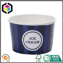 Coloured Print 8oz Ice Cream Cup with Paper Lid