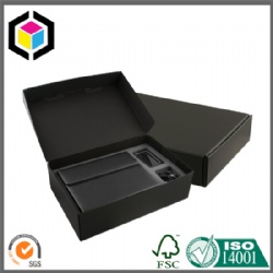 Custom Black Color Print Corrugated Cardboard Shipping Box