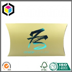 Green Hot Foil Logo Hair Extension Cardboard Paper Pillow Box