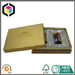 Gold Color Luxury Paper Gift Packaging Box for Bottle