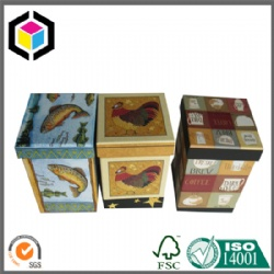 Two Pieces Setup Color Print Rigid Paper Gift Box with Lid