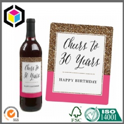 Personalized Color Print Stylish Paper Wine Labels